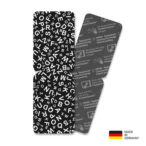 PocketCleaner® mit Designmotiv Black and White